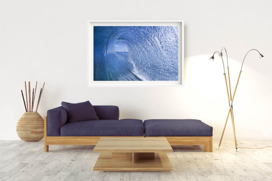 Curtain | Great Barrier Reef Australia - Box Frame (White) - With Border