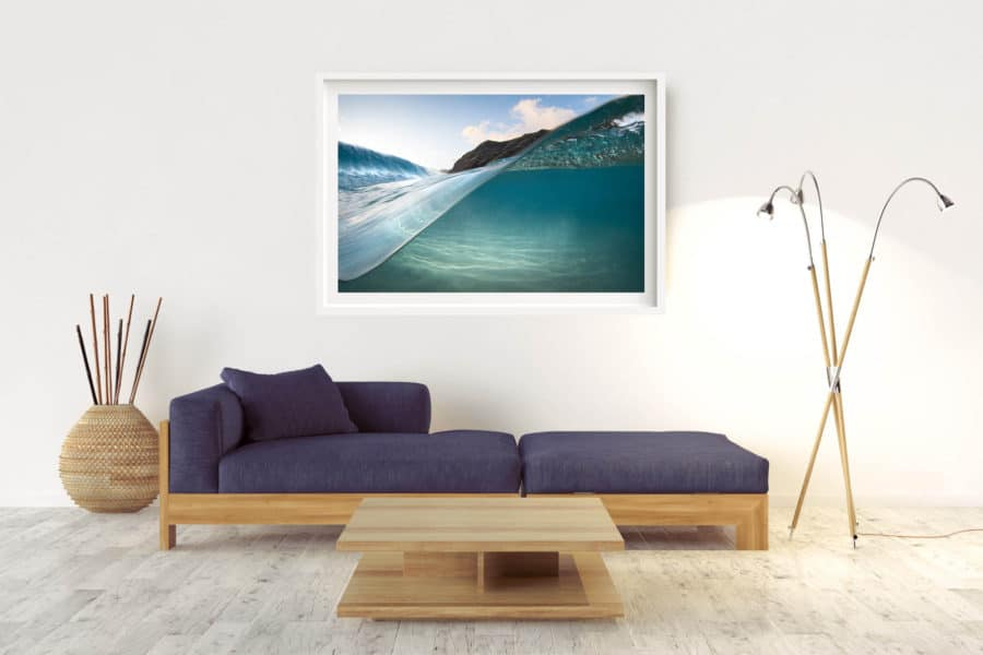 Curves | Hawaii - Box Frame (White) - With Border