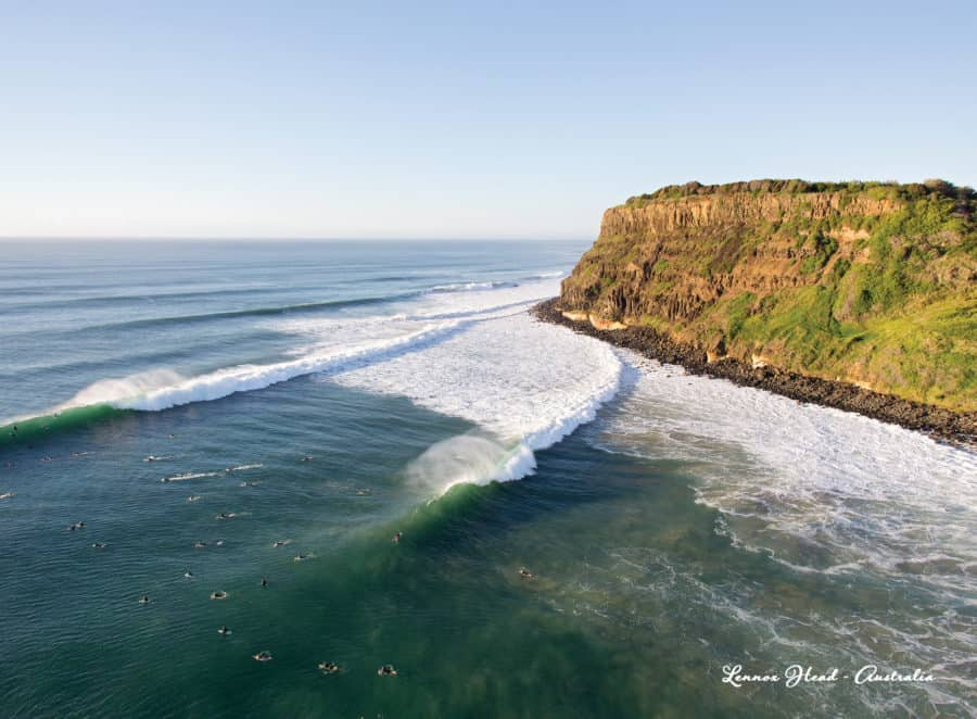 Lennox Head Point Lines Greeting Card